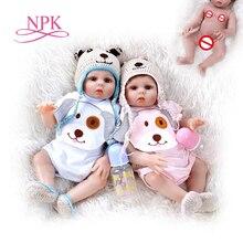 48CM bebe bebek reborn yürümeye başlayan kız ve erkek oyuncak bebek tatlı İkizler tam vücut yumuşak silikon gerçekçi bebek banyo oyuncak su geçirmez