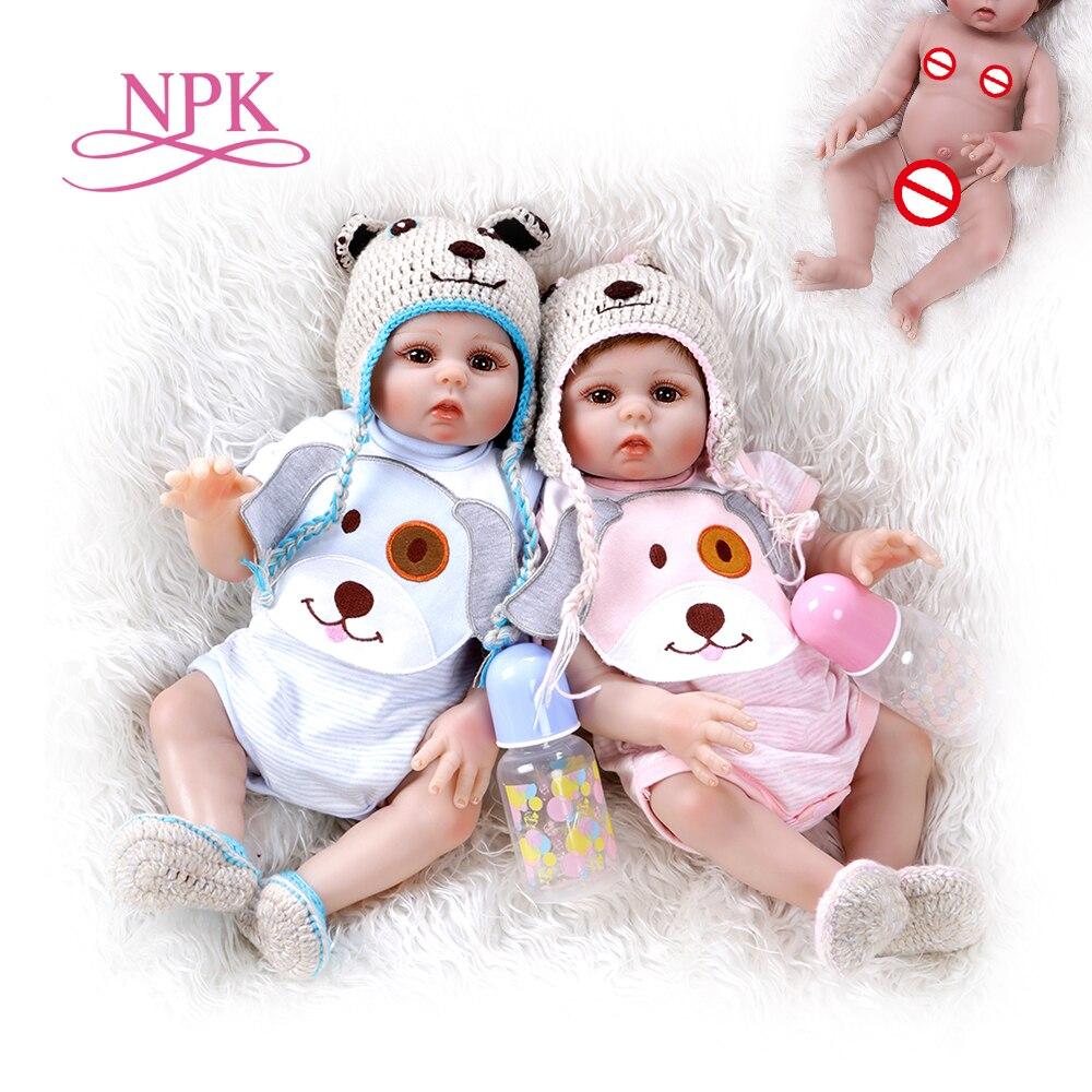 Кукла bebe, Кукла reborn, для маленьких девочек и мальчиков, мягкая, силиконовая, Реалистичная, водонепроницаемая, 48 см Куклы      АлиЭкспресс