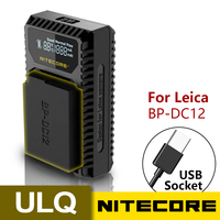 100% Original Nitecore ULQ Digital USB Travel Charger For Leica BP DC12 Batteries Q (Typ 116) V Lux (Type 114) V Lux 4