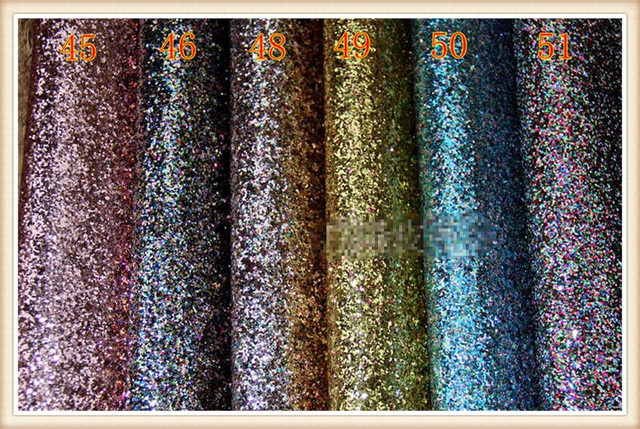 Rough Surface Cloth Backing Glitter Fabric Faux Leather