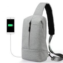 Bolso Mixi para el pecho con carga USB para hombre y joven, bolso cruzado para estudiantes universitarios, bolso mensajero apto para Ipad M2078 de 9,7 pulgadas