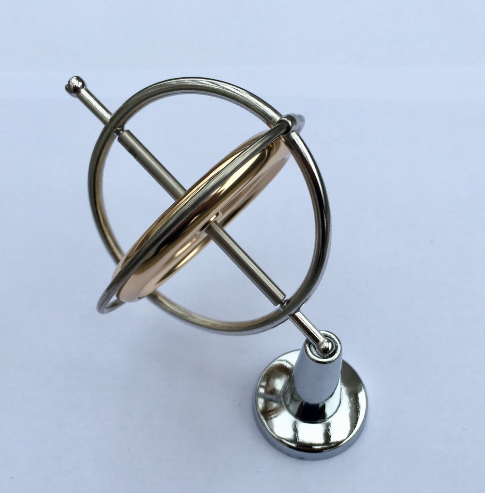 Mechanical Gyroscope Magic Gyro Space Physics Teaching Magic Anti-gravity Toy Gyro.