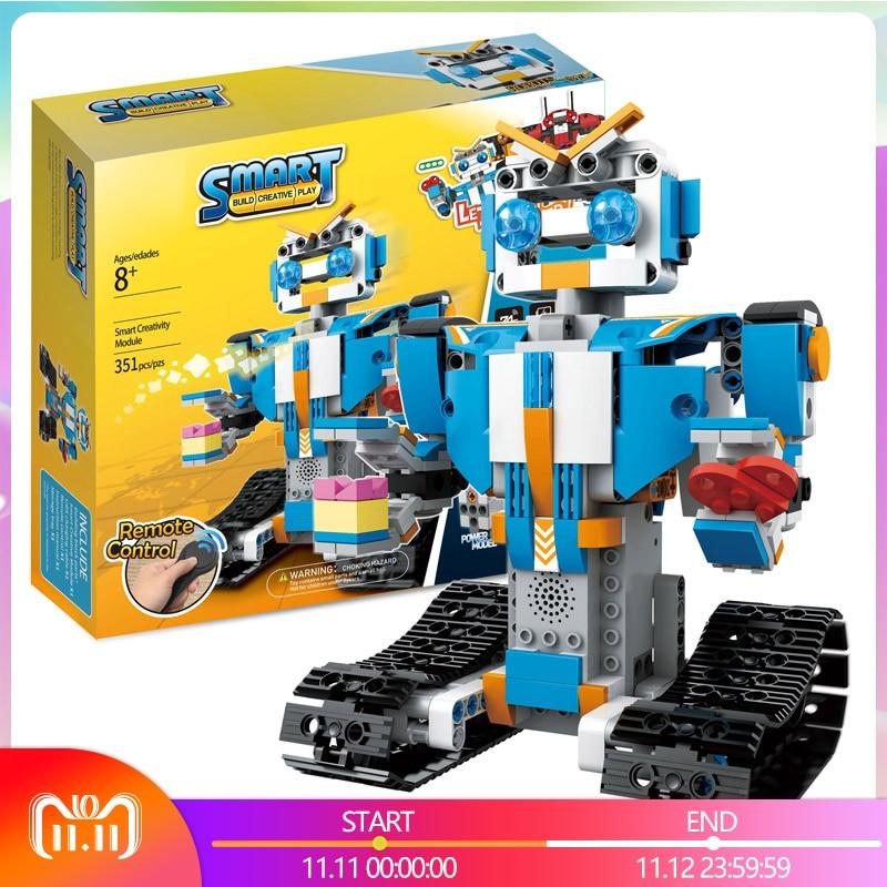 Technique RC Télécommande Intelligente Robot LegoINGLYs Robot BOOST Creative Boîte À Outils BRICOLAGE Assembler Blocs Briques Jouets Pour Garçons