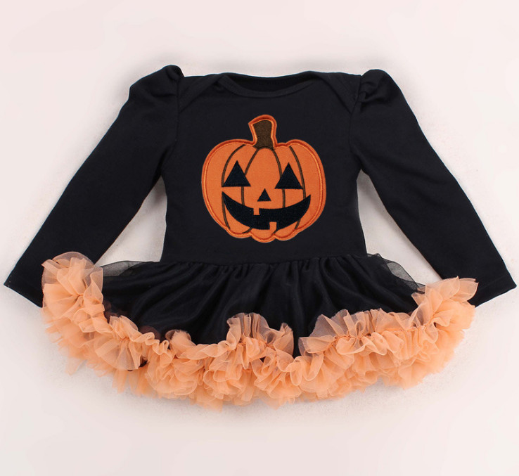 Cute Baby Halloween Costumes Long Sleeve Kids Girls Rompers Dress Lace Tutu Jumpsuit  Bebe Newborn Clothing For Party Gifts