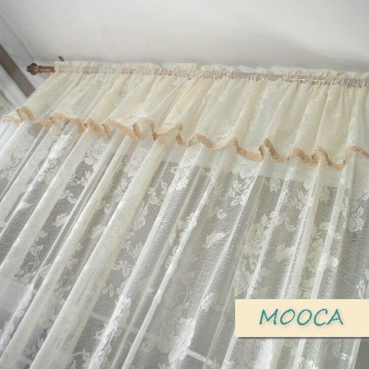 Rideau vintage en dentelle blanche ivoire pour rideau fini de salon ...