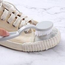 2 unids/lote herramienta de cuidado de zapatos cepillo de limpieza para zapatillas de deporte Zapatos cepillo de limpieza multifunción
