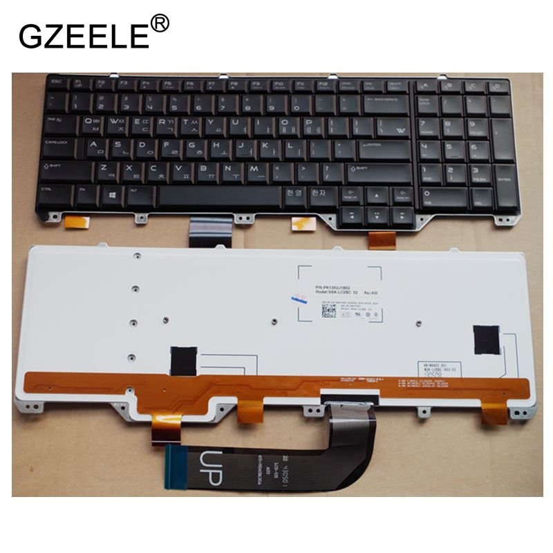 GZEELE Korean Keyboard For DELL Alienware M17X R5 backlit notebook laptop keyboards KR version цены