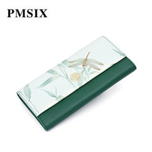 Pmsix 2019 Vintage Floral Printing Women's Clutch Wallet Hasp Fashion Female Purse Elegant to Carry Evening Clutch Bags(China)