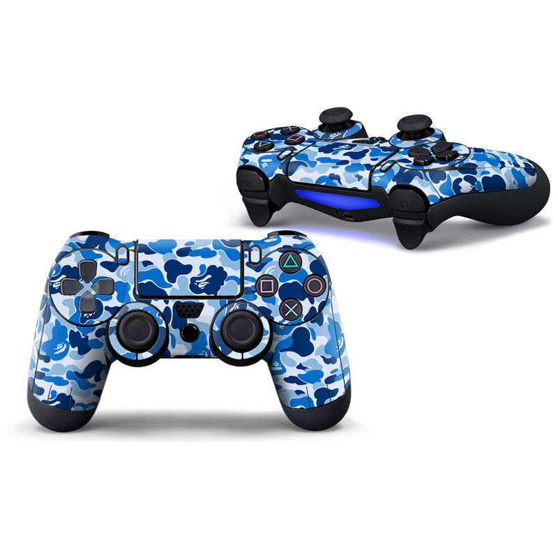 free drop shipping2 pieces PVC Full Cover skin sticker for PS4 Controller Skins Stickers Game Accessories#TN-P4C-2103