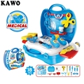 KAWO 18pcs/set Pretend Play Toys Set Children 's Simulation Medicine Box Doctor Toys Educational Baby Classic Toys
