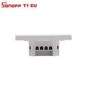 Image 5 - Itead Sonoff T1 EU 2 Gang 1 voie Wifi interrupteur mural sans fil relais de lumière à distance App contrôle tactile Wifi commutateur intelligent travailler avec Alexa