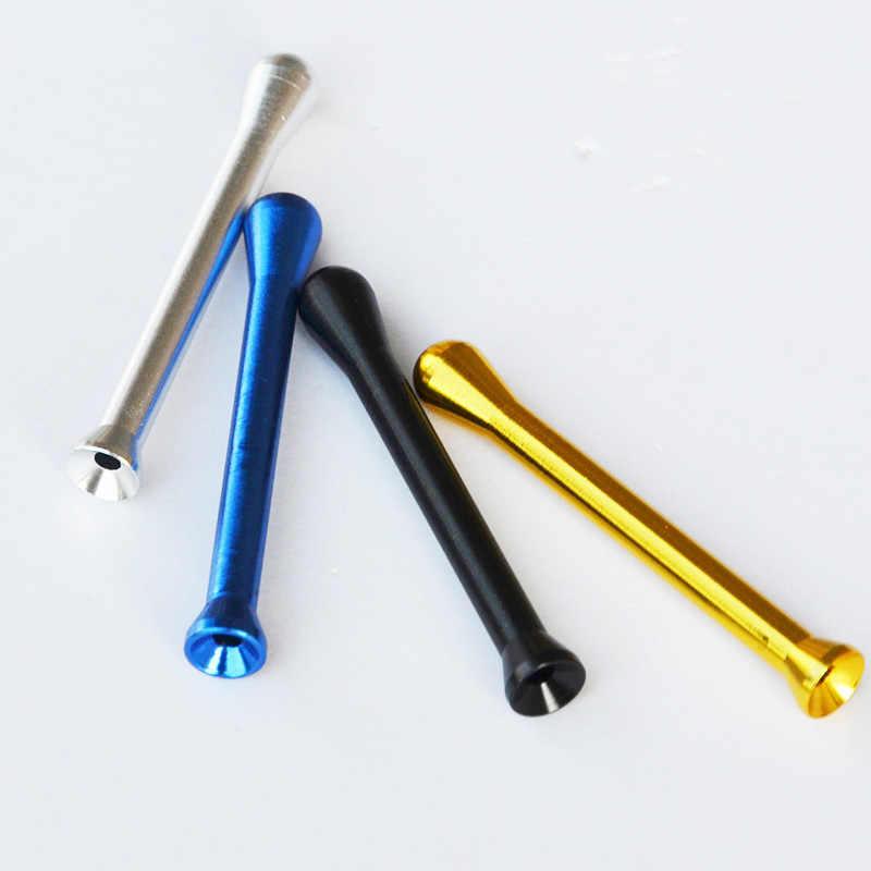 2 ピース/ロット長さ: 70 ミリメートル金属パケットスニッファーソフトウェア鳴らす人 Pippotto 弾丸鼻わらチューブ喫煙アクセサリードロップシッピング