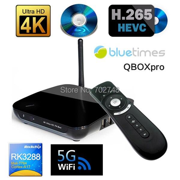 RK3288 Android 4.4 Quad Core Cortex A17 Mali-T764 GPU 1.8GHz TV BOX 4K*2K HDMI2.0 5G Wifi+Wireless Keyboard Fly Air Mouse