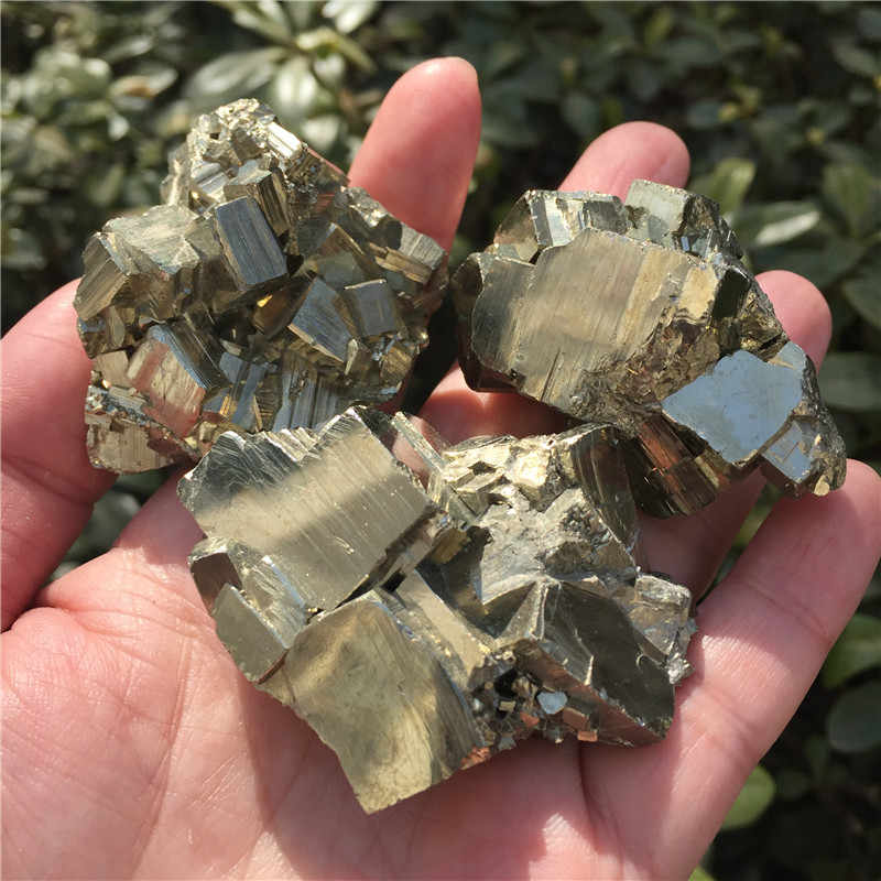 1pcs Natural Copper Pyrite Mineral Specimen Chalcopyrite Crystal Rock Stones Original Specimen Mineral Cluster Collection Stone