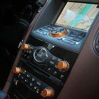 Acessórios interiores para infiniti QX50 QX70 EX FX consola som de áudio gps interruptor chave botão ar condicionado Tampa moldura decorativa