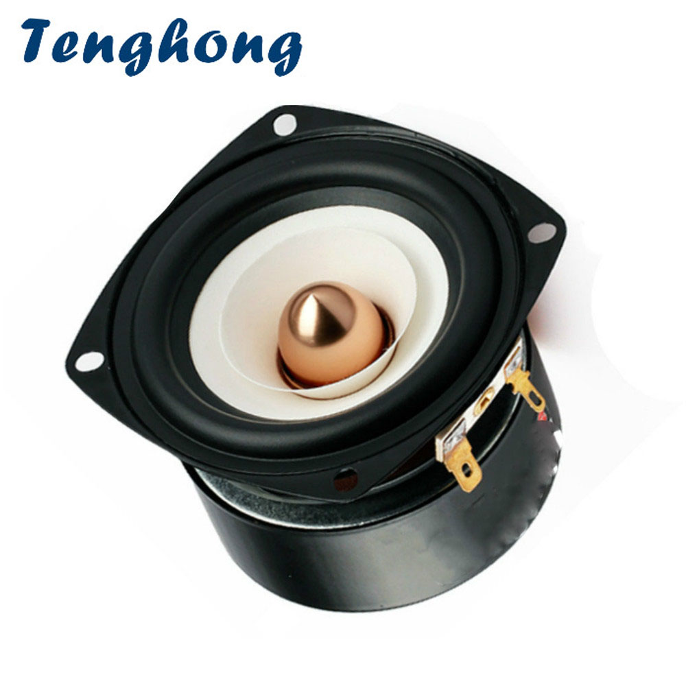 Tenghong 1pcs 3 Inch Audio Speaker 4Ohm 8Ohm 15W Full Range Speakers Hifi Mediant Bass Loudspeaker For Home Theater DIY-in Bookshelf Speakers from Consumer Electronics