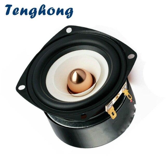 Tenghong 3 Inch Audio Speaker 4Ohm 8Ohm 15W Full Range Speakers Hifi Mediant Bass Loudspeaker For Home Theater DIY
