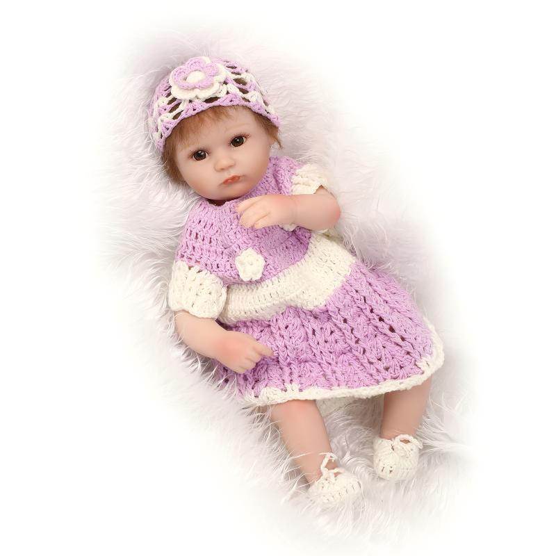 ФОТО Soft Silicone Vinyl Dolls 16inch 40cm Doll Reborn Baby  Girl Handmade Cotton Body Lifelike Bebe juguetes Babies Toys