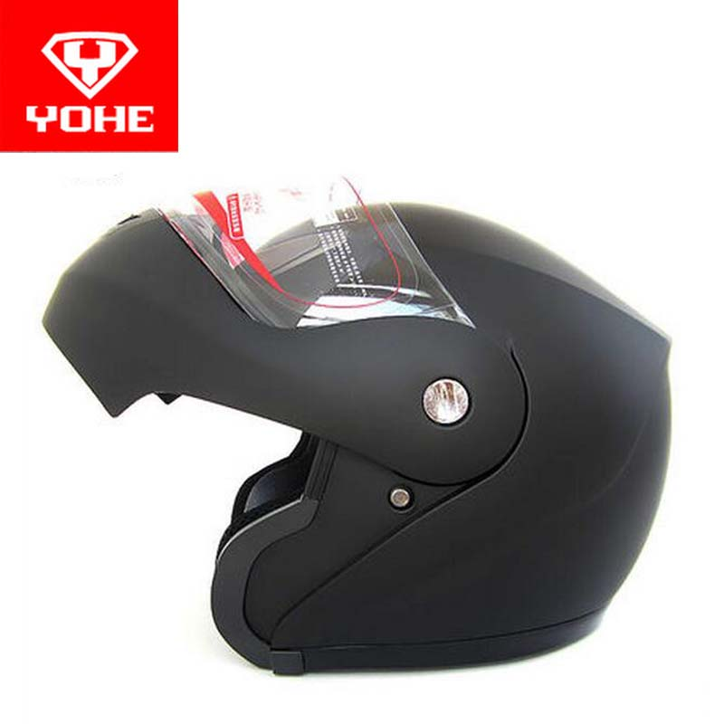 2017 Fashion YOHE undrape face Motorcycle helmet YH936 ABS knight Safety open face Motorbike helmets with PC visor lens