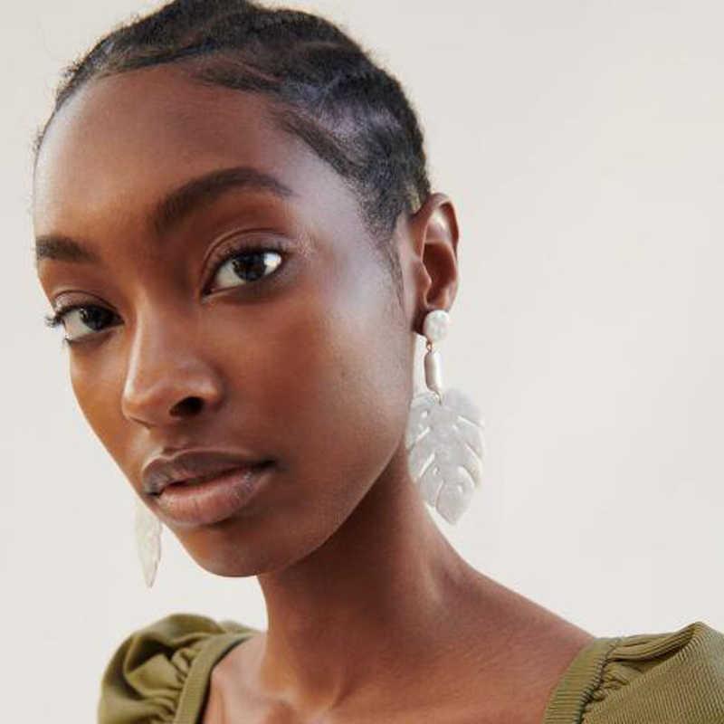 أقراط متدلية كلاسيكية بتصميم جديد للنساء من Ztech Za أقراط متدلية على الموضة من الكريستال البوهيمي مجوهرات متدلية على شكل قطرة معدنية
