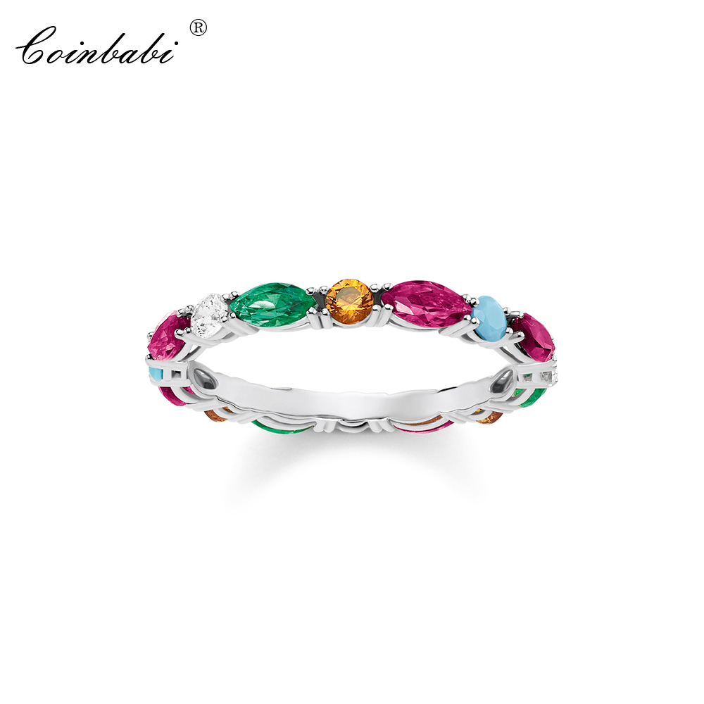 Filigree Ring Colorful Stones Zirconia Cute Gift For Women,Thomas Style Glam Jewelry Eternity Rings TS Fashion Jewelry Wholesale