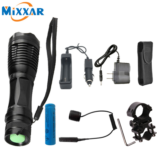 RU LED Flashlight zoom torch waterproof flashlights XM-L T6 L2 4500LM 5 mode led Zoomable light For 3x AAA or 3.7v 18650 Battery