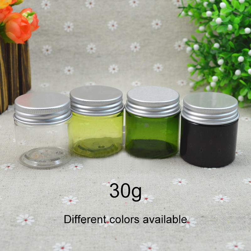 Free Shipping 30g Plastic Cosmetic Jar Handmade Lotion Skin Care Cream Container Capasule Pill Packing Bottles