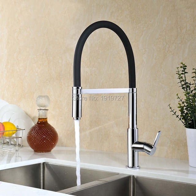 US $87.22 11% OFF|Kitchen Sink Faucet Commercial Hot and Cold Kitchen Bar  Sink Faucet Pull Down Kitchen Faucet In Brushed Nickel Or Chrome-in Kitchen  ...