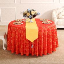 Chinese Dragon Phoenix Wedding Rectangular Round Tablecloth On table cover Polyester Coffee For Table