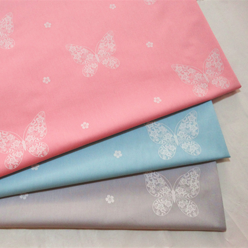 half meter butterfly print 100% cotton twill fabric for bedding infant children bed sheet bed sack pure cotton cloth A533