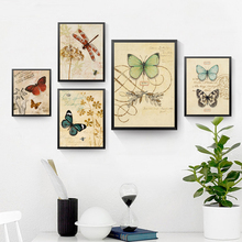 Butterflies Painting Print Canvas Animals Plant Wall Picture Modern Poster Room Decor HD2271