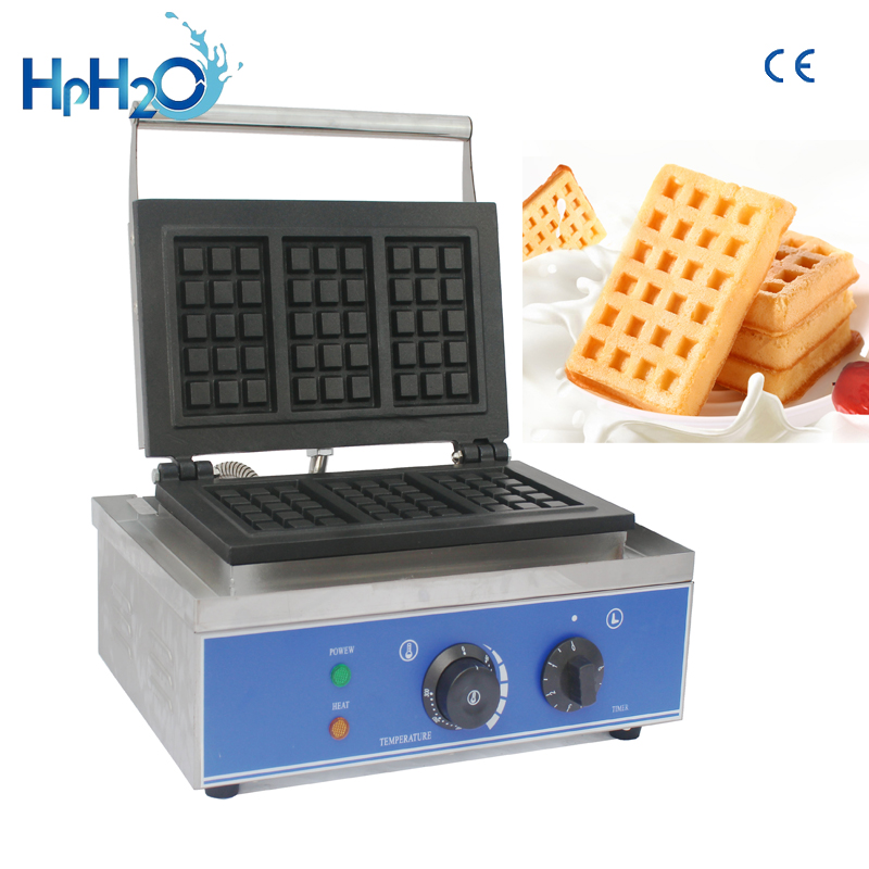 CE approved 110V/220V commercial  electric 3 pcs bubble waffle maker waffle baker cake oven customs iron waffle machine|Waffle Makers| |  - title=