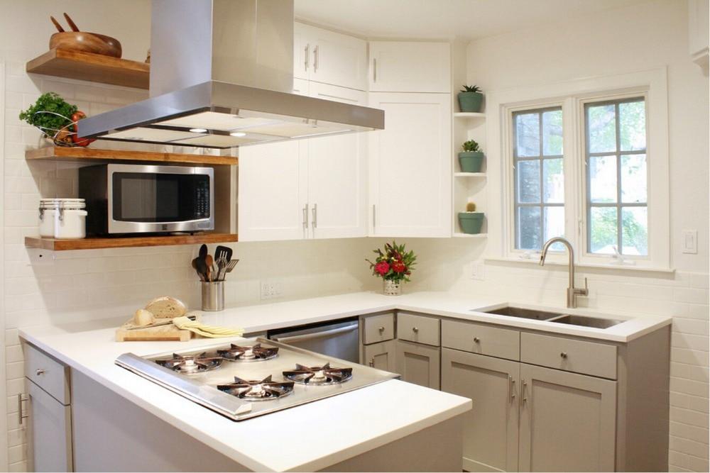 2019 nuevo dise o de gabinetes de cocina de color blanco for Gabinete de cocina de pared de color blanco