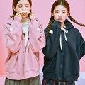 Осень и зима новой Корейской версии женщин школа ветер мягкой сестра милый форме сердца вышивка свободно длинными рукавами С Капюшоном плюс