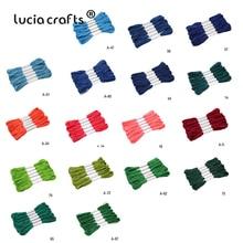 6 шт 7 метров разные цвета якорь» для вышивания крестиком хлопок вышитые нить 20050028(D6