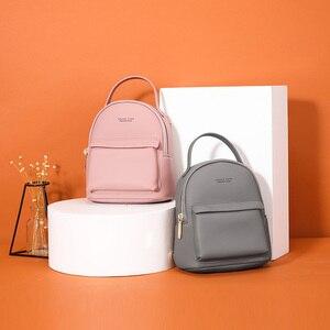 Image 2 - WEICHEN çok fonksiyonlu kadın sırt çantası deri moda küçük sırt çantası kadın bayanlar omuzdan askili çanta Satchel Mini Mochila çanta