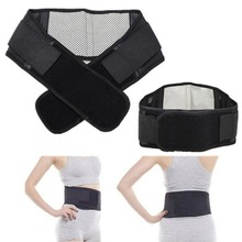 Adjustable Tourmaline Self-heating Magnetic Therapy Waist Belt Lumbar Support Back Waist Support Brace Double Banded