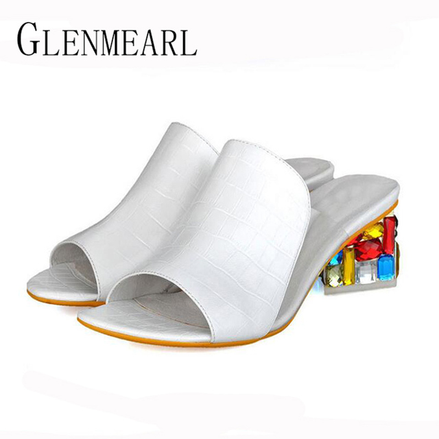 2018 New Fashion Casual Wedge Women Slippers Shoes Fish Head Thick Big Yard Plus Size Roman Shoes Summer Pumps White Purple 41