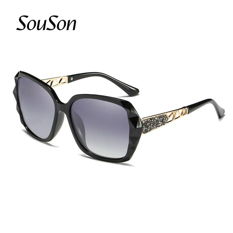 2018 Souson бренд Для женщин солнцезащитные очки поляризованные летние новые солнцезащитные очки для Для женщин с коробкой солнцезащитные очки ...