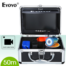 EYOYO Professional Fish Finder 50M Cable length Fishing Camera Ice Lake Fishfinder Video Recording HD 1000TVL White LED ON/OFF
