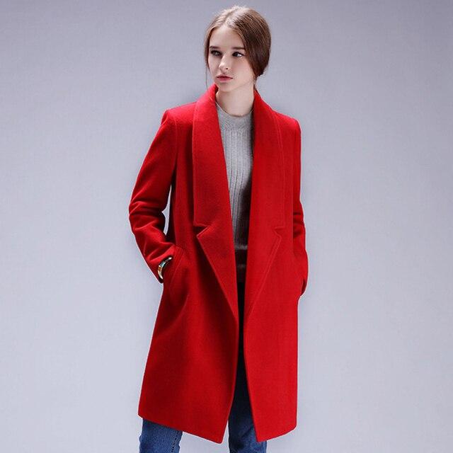 YuooMuoo Brand Design Winter Coat Women Warm Cotton-padded Wool Coat Long Women's Cashmere Coat European Fashion Jacket Outwear