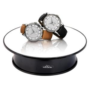 Image 4 - White Velvet Top Motorized 360 Degree Jewelry Display Stand By Battery Rotation Turntable