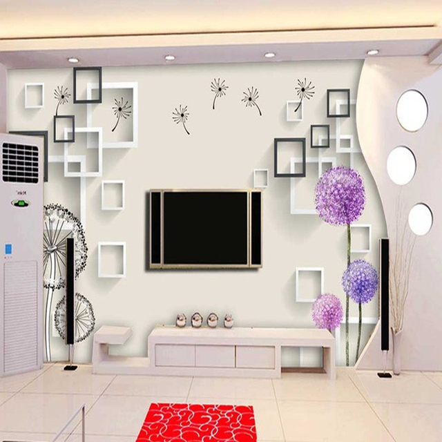 Custom Modern Minimalist 48D Wallpaper Light Colored Geometric Shapes Amazing Light Purple Bedrooms Minimalist Decoration