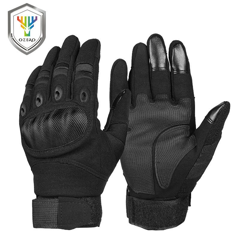 OZERO Motorcycle Gloves Super Fiber Reinforced Leather Motocross Motorbike Biker Racing Car Riding Moto Gloves Men 9024