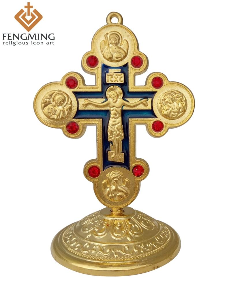 2017 Katholischen Kreuze Und Kruzifix Klassische Jesus Metall Handwerk Religiöse Kreuz Griechischen Orthodoxen Symbol Symbole Christian Taufe Geschenk