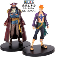 Hot NEW 17cm 2pcs Set One Piece Marco Gol D Roger Action Figure Toy Christmas Gift