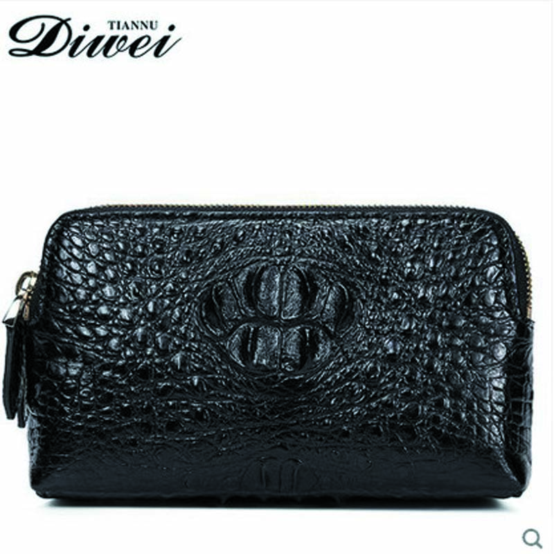 2018 diwei crocodile women purse long large capacity more double zipper package leather women wallet authentic women clutch bag women wallet long zipper wallet high capacity crocodile grain female card package fashion hand bag change purse