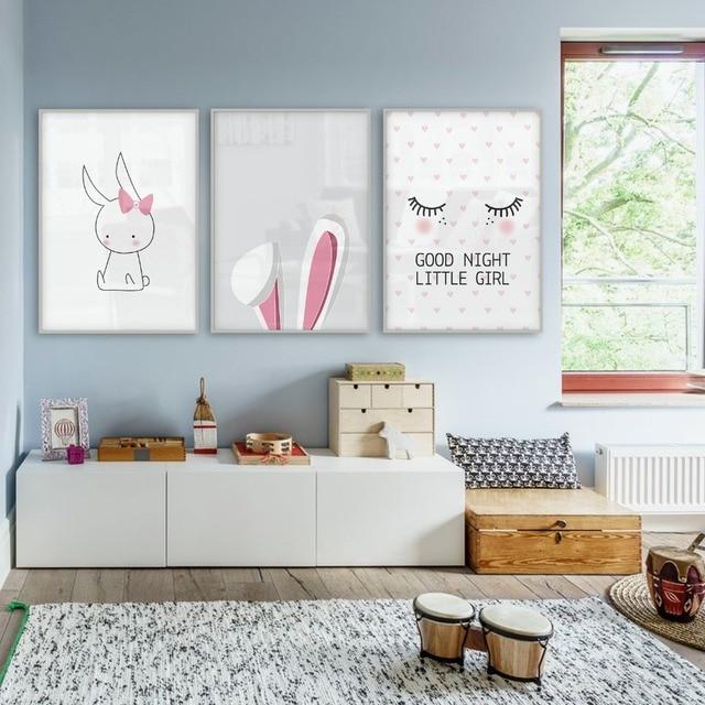 Bébé Chambre Style Nordique Enfants Décoration Nordique Affiche Fille  Photos Affiches Et Impressions Décor Scandinave Art
