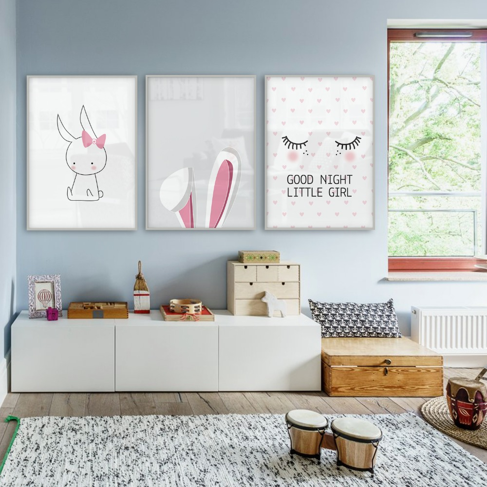 Baby Room Nordic Style Kids Decoration Nordic Poster Girl