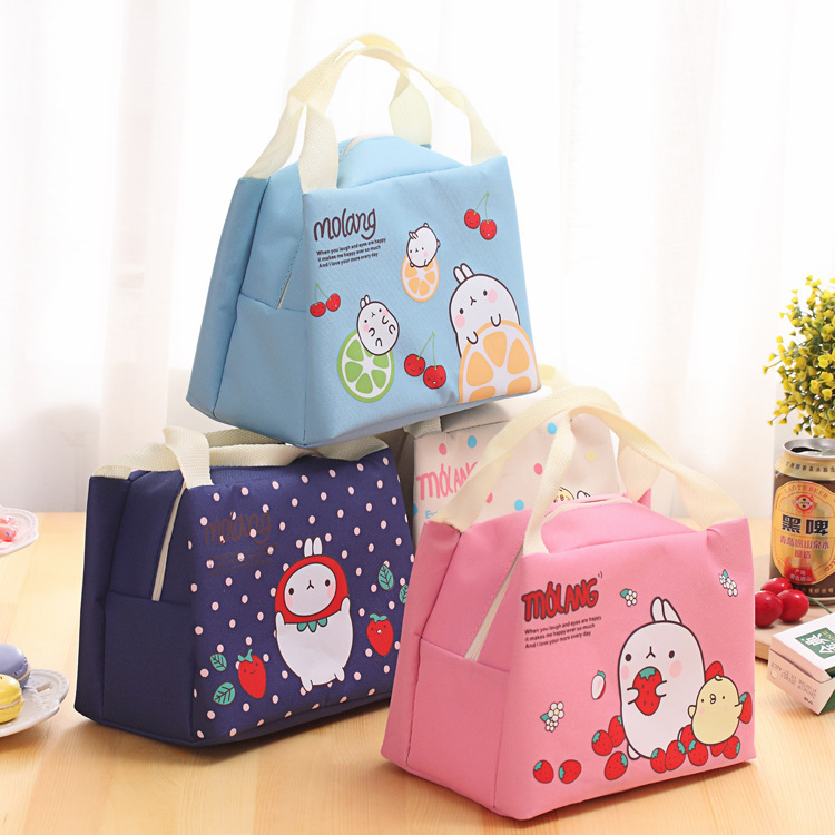 eTya  Cute Animal Rabbit Thermal Lunch Bag For Women Kid Men Tote Insulated Cold Canvas Leisure Picnic Food Bag Case Pouch eTya  Cute Animal Rabbit Thermal Lunch Bag For Women Kid Men Tote Insulated Cold Canvas Leisure Picnic Food Bag Case Pouch